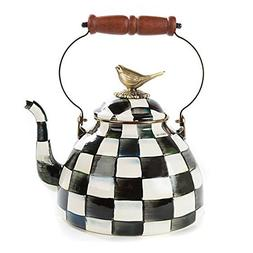 MacKenzie-Childs Courtly Check Enamel 3 Qt. Tea Kettle with