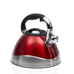 Creative Home Crescendo Whistling Tea Kettle, 3.1-Quart, Met