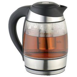 Culinary Edge Electric Glass Digital Tea Kettle with Tea Inf