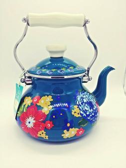 The Pioneer Woman Dazzling Dahlias 2-Quart Tea Kettle Vintag