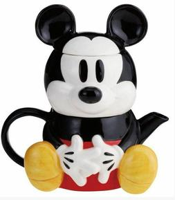 DISNEY MICKEY MOUSE TEA FOR ONE THREE PIECE SET TEA POT , CU