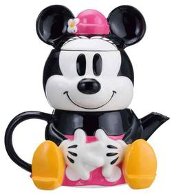 DISNEY MINNIE MOUSE TEA FOR ONE THREE PIECE SET TEA POT , CU