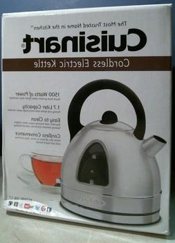 Cuisinart DK-17 Cordless Electric Kettle 7.2 Cup Brushed Sta