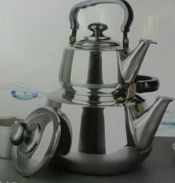 Double Tea Kettle, 1 / 3 L, Stainless Steel with Strainer NE