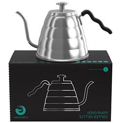 Coffee Gator 1.2L Drip Coffee and Tea Kettle with Gooseneck
