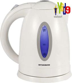Electric Cordless Kettle 1.7 Liter Pot White Coffee Tea Hot