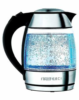 Chefman Electric Glass Cordless Tea Kettle w/ Tea Infuser  1