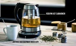 Chefman Electric Glass Digital Tea Kettle Free Infuser Built