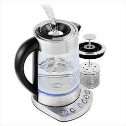 Ovente Electric Glass Kettle 1.7 Liter with Fast Heating Fun