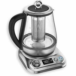 Chefman Electric Glass Kettle, Temperature Control and 8 Pre