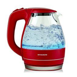 Ovente Electric Glass Kettle Water Tea Coffee Boiler 1.5 Lit