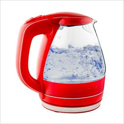 Ovente Electric Glass Kettle 1.5 Liter BPA-Free 1100W Auto S