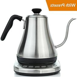 Electric Gooseneck Kettle with Temperature Presets - 1L Elec