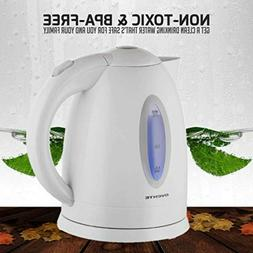 Ovente Electric Hot Water Kettle 1.7 Liter with LED Light, 1
