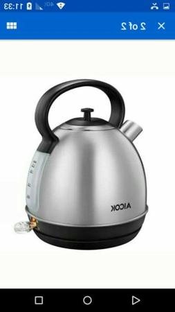 AICOK Electric Kettle - 1.7 Liter Stainless Steel Dome Retro