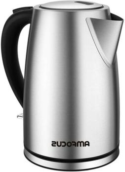 Electric Kettle, 1.7L BPA-Free Stainless Steel Water Kettle