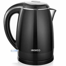 COSORI Electric Kettle, 1.8 Qt Double Wall 304 Stainless Ste