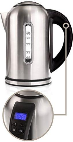 Electric Kettle with 4 Button Touch Display Variable Tempera