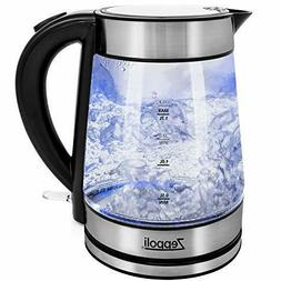 Zeppoli Electric Kettle - Glass Tea Kettle  Fast Boiling and