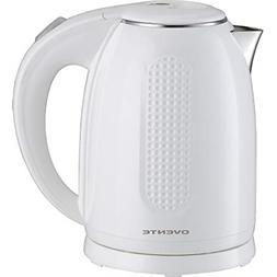 Ovente 1.7L Electric Kettle, Double Wall 304 Stainless Steel
