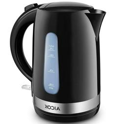 Aicok Electric Kettle Double Wall Cool Touch Tea Kettle Blac
