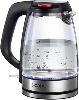 Electric Kettle Glass Tea Kettle, Cordless Water Kettle with