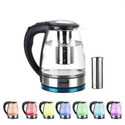 Electric Kettle Glass Water Boiler Fast Boiling Tea Kettle 1