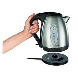 Electric Kettle Hamilton Beach Tea Coffee Cocoa Soup Heat Bo