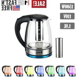 Electric Kitchen Glass Kettle Pot Hot Water Tea Quick Boil H