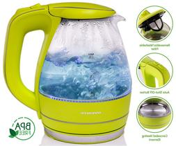 1.59-qt. Electric Tea Kettle Color: Green