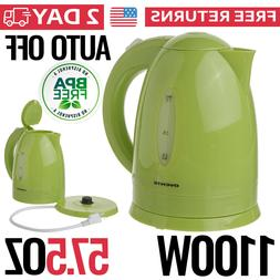 Electric Tea Kettle Hot Water Plastic Cordless Pot Fast Spee