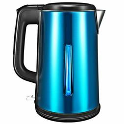 Electric Kettle Glass Coffee Tea Hot Water Boiler Warm Pot F