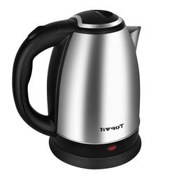 Electric Tea Kettle Stainless Steel Cordless Fast Boil Water