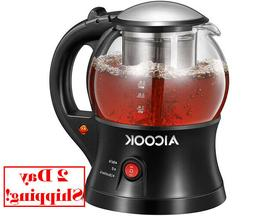 Electric Teapot, AICOOK Cordless Tea Pot Kettle with Removab