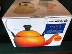 Le Creuset Enamel Flame Orange Demi 1.25 Qt. Tea Kettle
