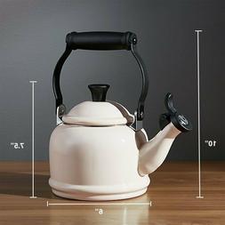 Le Creuset Enamel-On-Steel 1.25 Qt. Demi Tea Kettle  - White