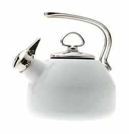 Chantal Enamel-On-Steel 1-4/5-Quart Classic Teakettle, White