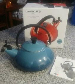 Le Creuset Enamel On Steel 1.6 Qt. Zen Tea Kettle, MARINE **