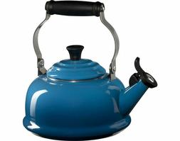 enamel on steel whistling tea kettle 1