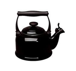 Le Creuset Enamel-on-Steel Demi 1-1/4-Quart Teakettle, Black