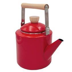 Keypro Enamel on Steel Tea Kettle, 2.1-Quart Maximum Capacit
