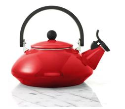 Le Creuset Enamel-on-Steel Zen 1-2/3-Quart Teakettle Cherry