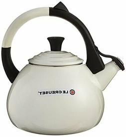 Le Creuset Enameled Steel 1.6 Quart Oolong Tea Kettle,White