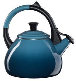 Le Creuset Enameled Steel 1.6 Quart Oolong Tea Kettle, Marin