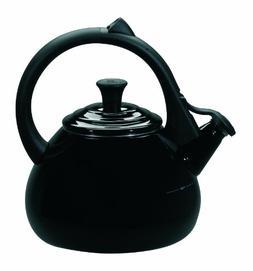 Le Creuset Enameled Steel 1.6 Quart Oolong Tea Kettle, Black