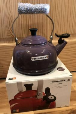 Le Creuset Enameled Steel Classic Tea Kettle, 1.7-Quart, Cas