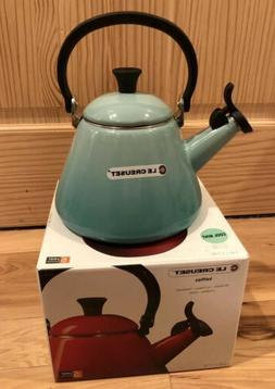 Le Creuset Enameled Tea Kettle  Cool Mint 1.7 Qt