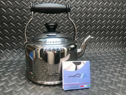 Ottoni Fabbrica Stainless Steel Teapot Tea Kettle Heavy 18/1