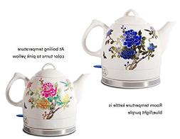 Fixture Displays Ceramic Electric Kettle with Peony Flower P
