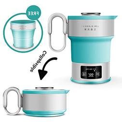 Travel Foldable Electric Kettle Dual Voltage Food Grade Sili
